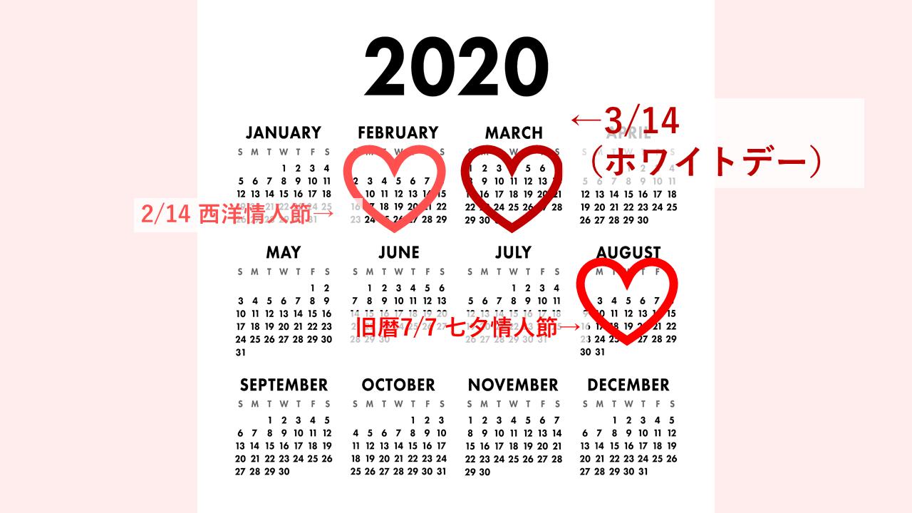 バレンタインデーのカレンダー2
