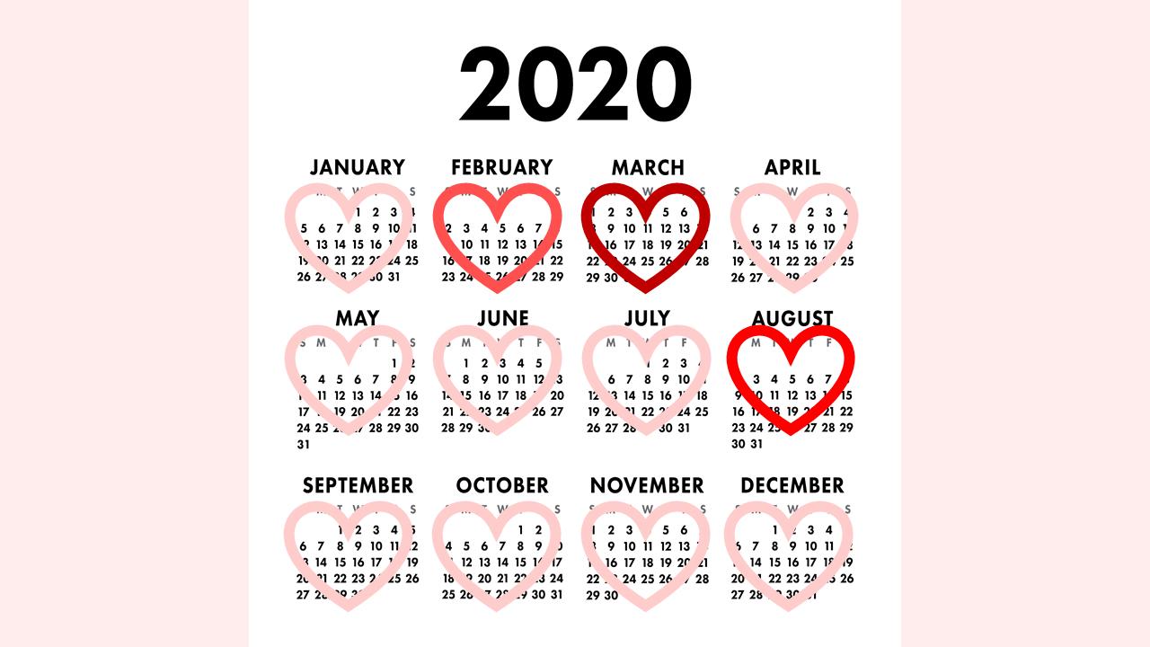 バレンタインデーのカレンダー3